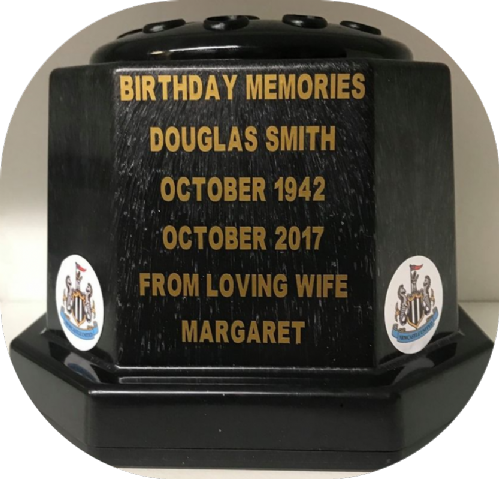 Newcastle F. C. football personalised Grave pot